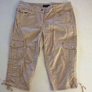 white house black market pedal pusher pants size 4